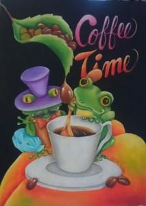 Coffee Time カエル