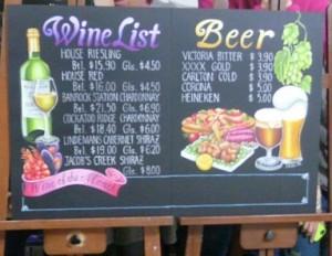 Wine,Beer,メニューボード